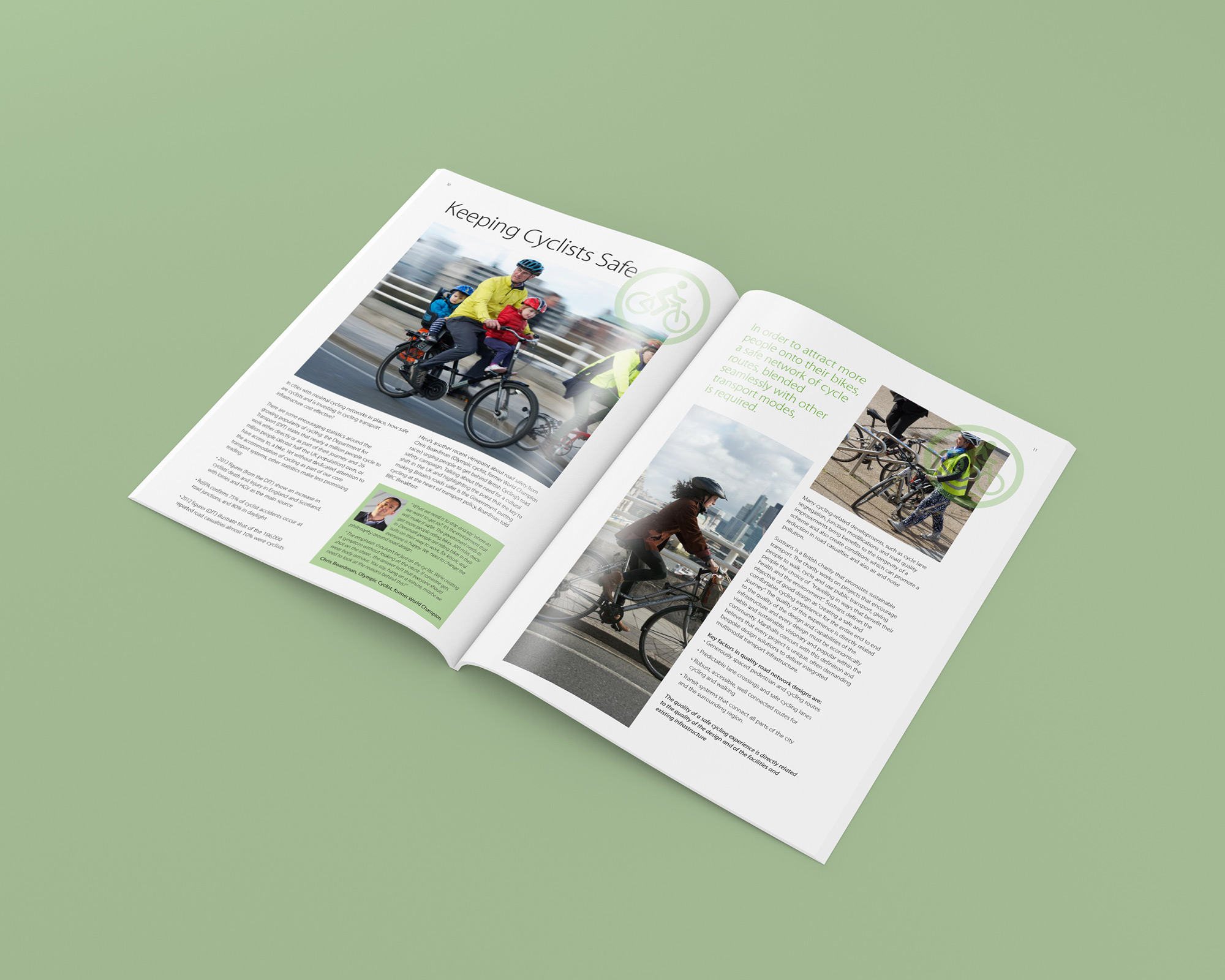 Cycle Scapes Brochure Open