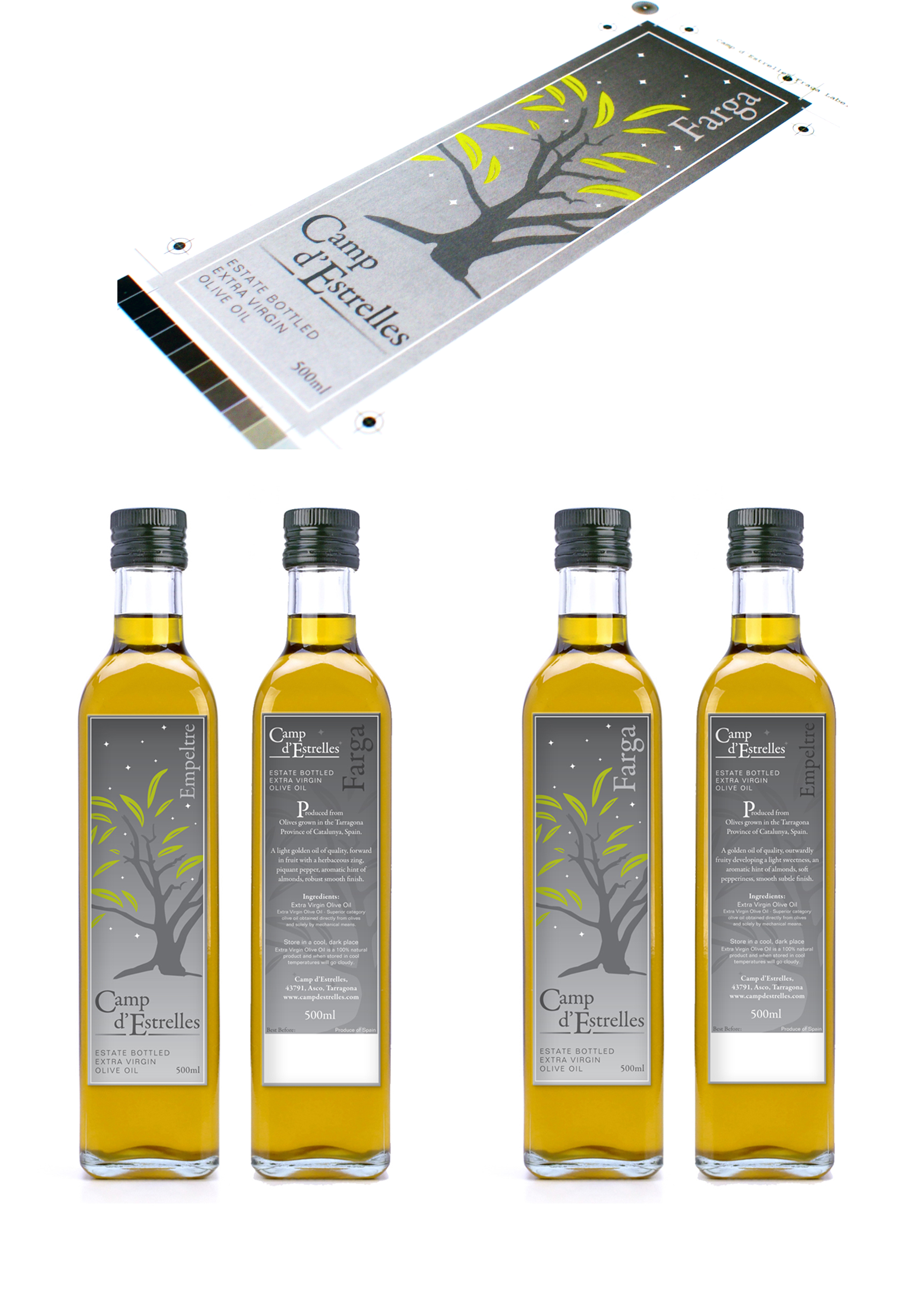 Camp d'Estrelles Olive Oil label