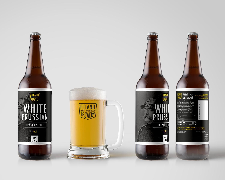 White Prussian Bottles & Glass