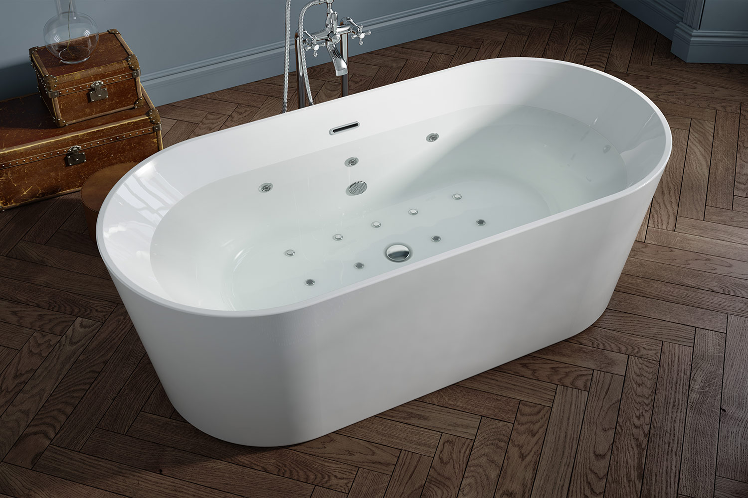 Coral Whirlpool Bath With Water