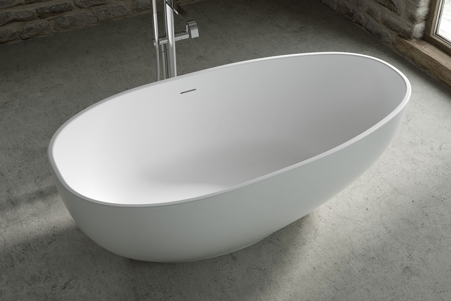 Close up of Mississippi freestanding bath