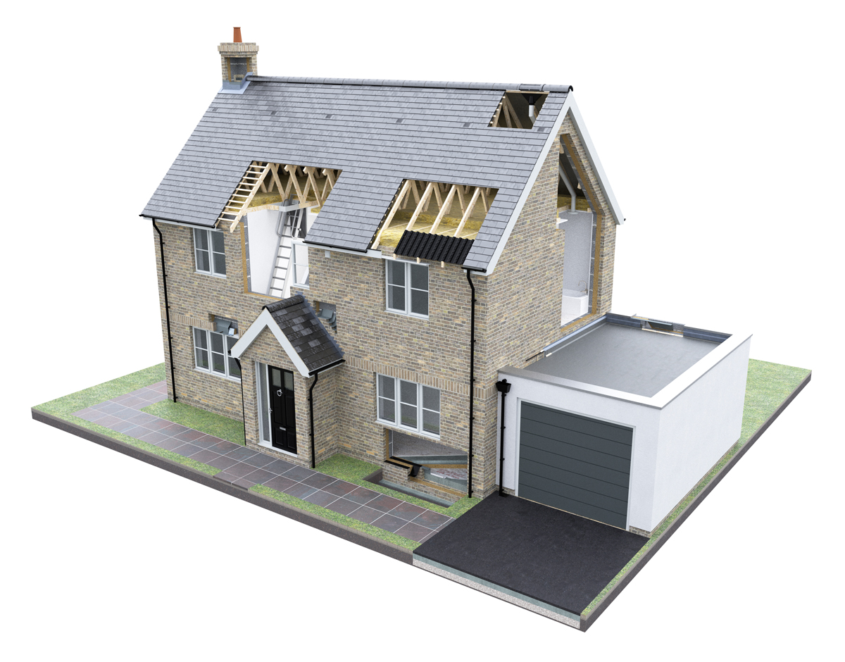 Original 3D rendered house image supplied by the client